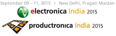 **-electronica India 2015, productronica India 2015, New Delhi, India, 9.9.-11.9.2015