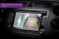 Deserializer Integrates Four Surround View Camera Streams in Automotive Applications