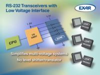 **-Exar Announces Family of RS-232 Transceivers with Adjustable Low Voltage Interface