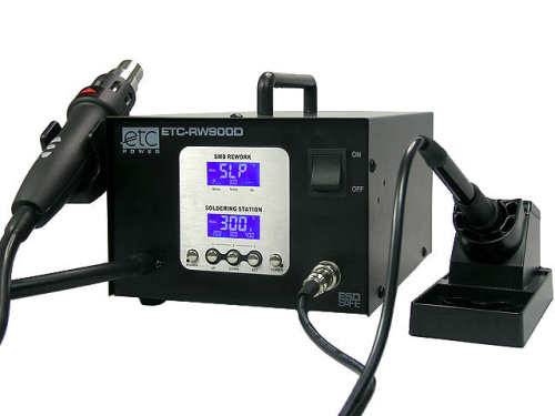Double-function, digital soldering station from ETC POWER
